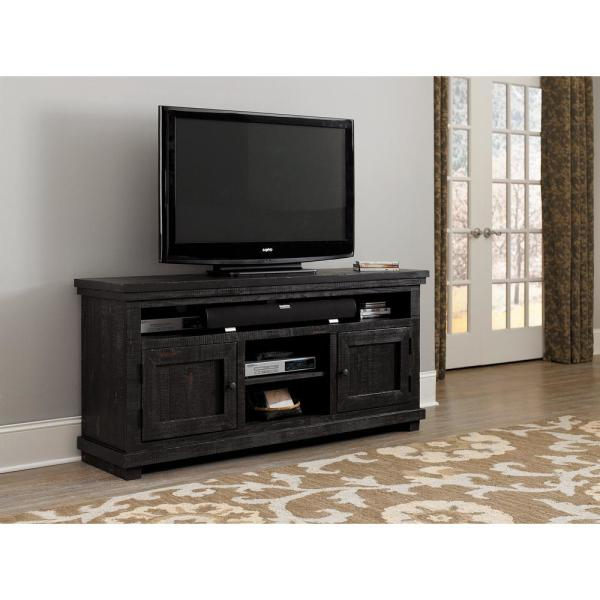 Progressive Furniture Willow 64 in. Distressed Black Entertainment Console P612E-64