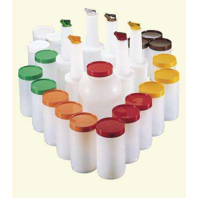 Stor 'N Pour Bar Service Pack Complete Set in Assorted Colored with Lids and Spouts