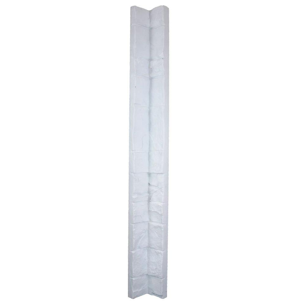 Superior Building Supplies Dove White 48 in. x 3 in. x 3 in. Faux Stone Inside Corner Superior Building Supplies - Superior Faux Stone Inside Corner - Dove White. The Superior Faux Stone Inside Corner is designed to be used with the Superior Tennessee Stack and Grand Heritage Panel. These corner measures 48 in. L x 3 in. W x 3 in. D and weigh 4.75 lbs. each. What once took highly trained mason hours and days to install, now can be done quickly and easily by the beginner do-it-yourselfer in very little time.