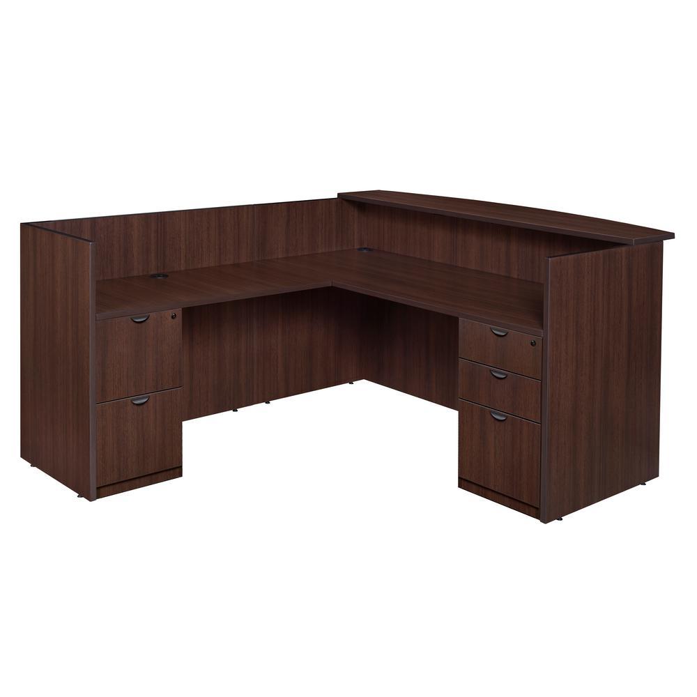 Legacy Java Double Full Pedestal Reception Desk