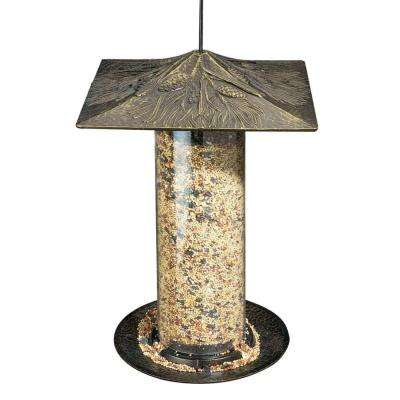 12 in. Pinecone French Bronze Tube Bird Feeder