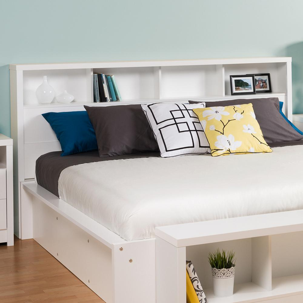 Prepac calla white king headboard