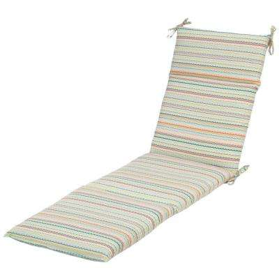 Rigby Stripe Outdoor Chaise Cushion