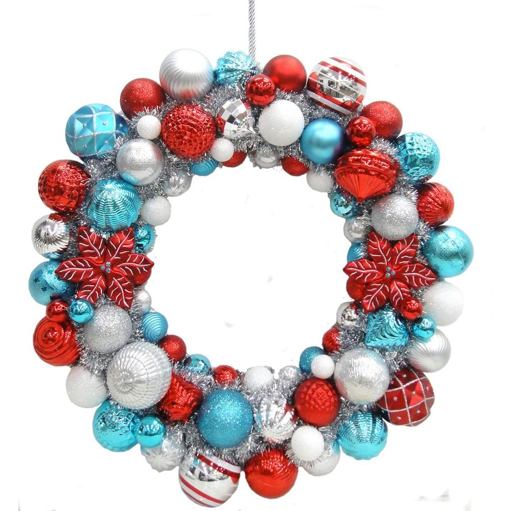 Martha Stewart Living 24 in. North Pole Shatter-Resistant Ornament Wreath