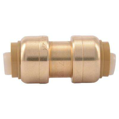 1/2 in. Brass Push-to-Connect Coupling Contractor Pack (10-Pack)