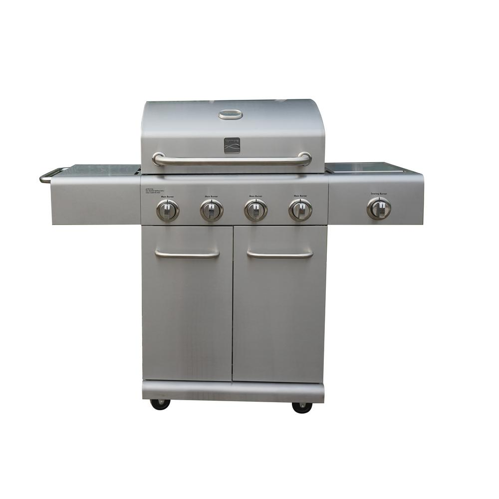 kenmore 4 burner plus side burner stainless steel grill pg