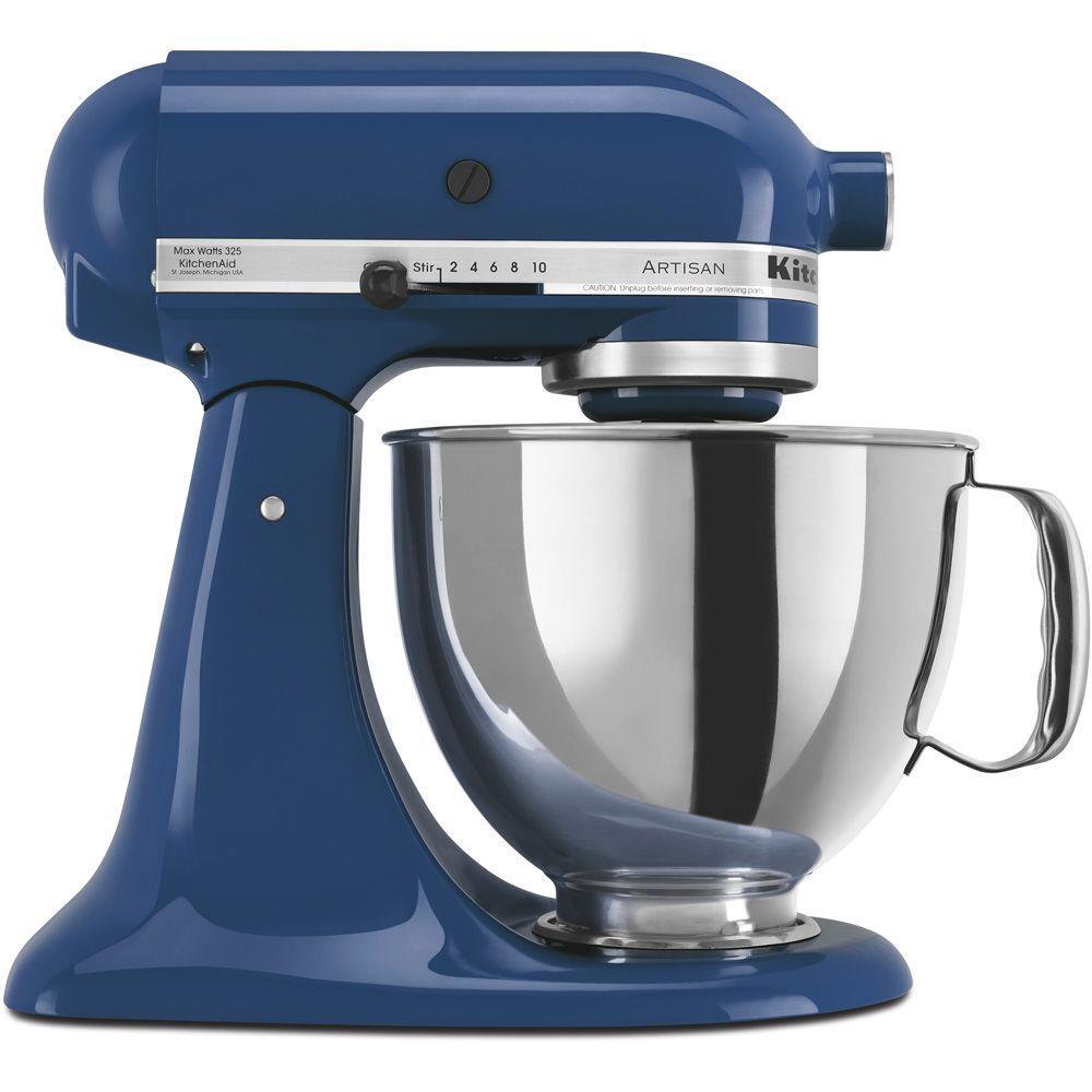 Nice KitchenAid Artisan 5 Qt. Blue Willow Stand Mixer KSM150PSBW   The Home Depot