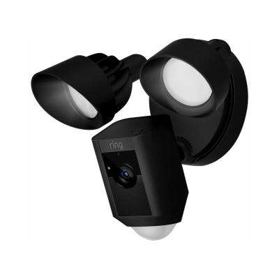 Outdoor Wi-Fi Cam with Motion Activated Floodlight, Black (3-Pack)