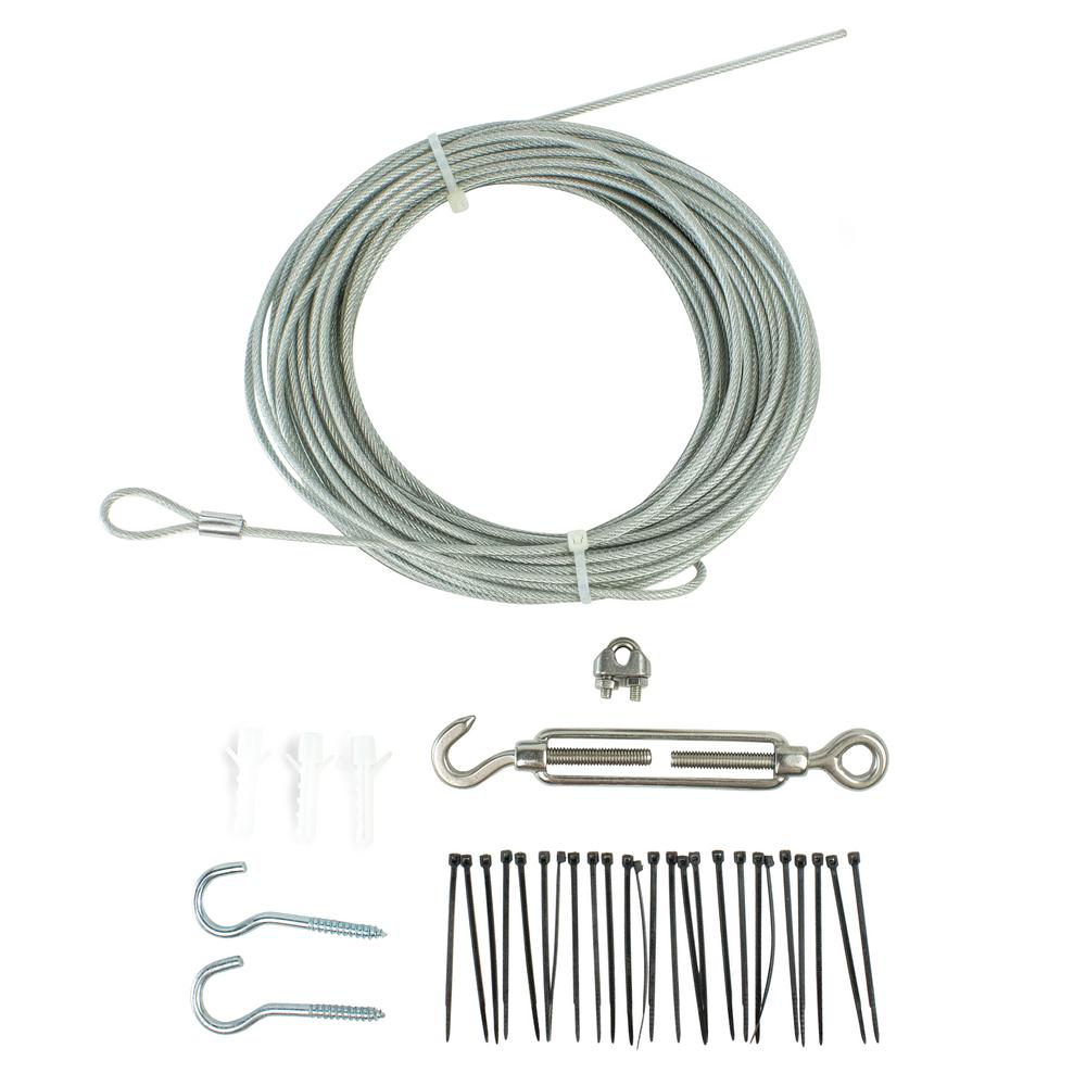 Newhouse Lighting 48 Ft String Light Hanging Kit Stringkit The Wiring A Yard