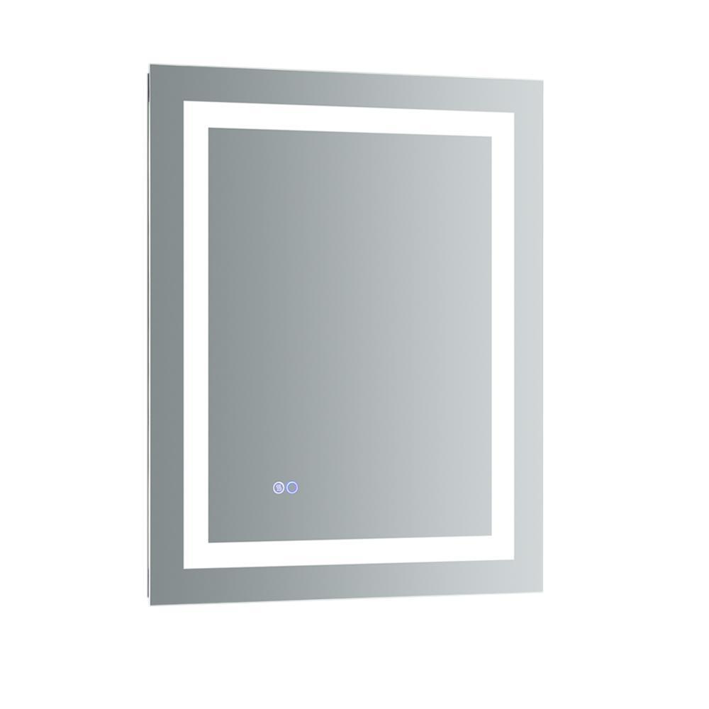 Santo 24 in. W x 30 in. H Frameless Rectangular LED Light Bathroom Vanity Mirror