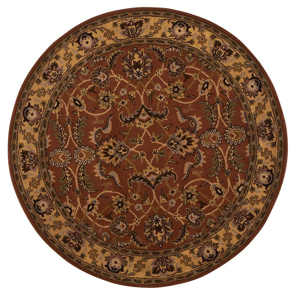home decorators collection constantine rust 3 ft 9 in round area rug 3151942130 the home depot. Black Bedroom Furniture Sets. Home Design Ideas