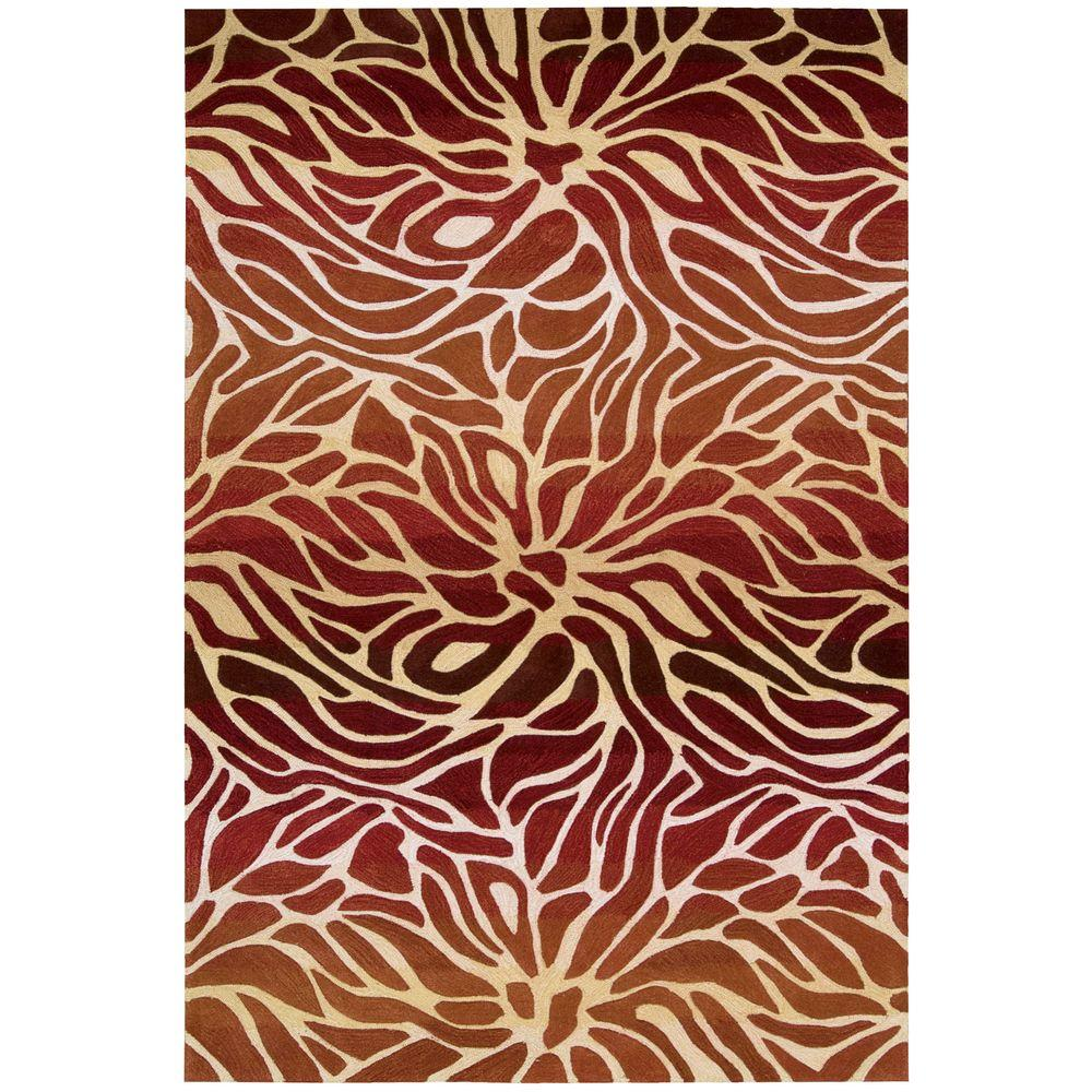 Contour Flame 5 ft. x 7 ft. 6 in. Area Rug