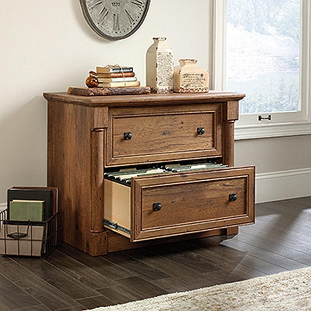 Amazing +3. SAUDER Palladia Collection Vintage Oak 2 Drawer Lateral File Cabinet