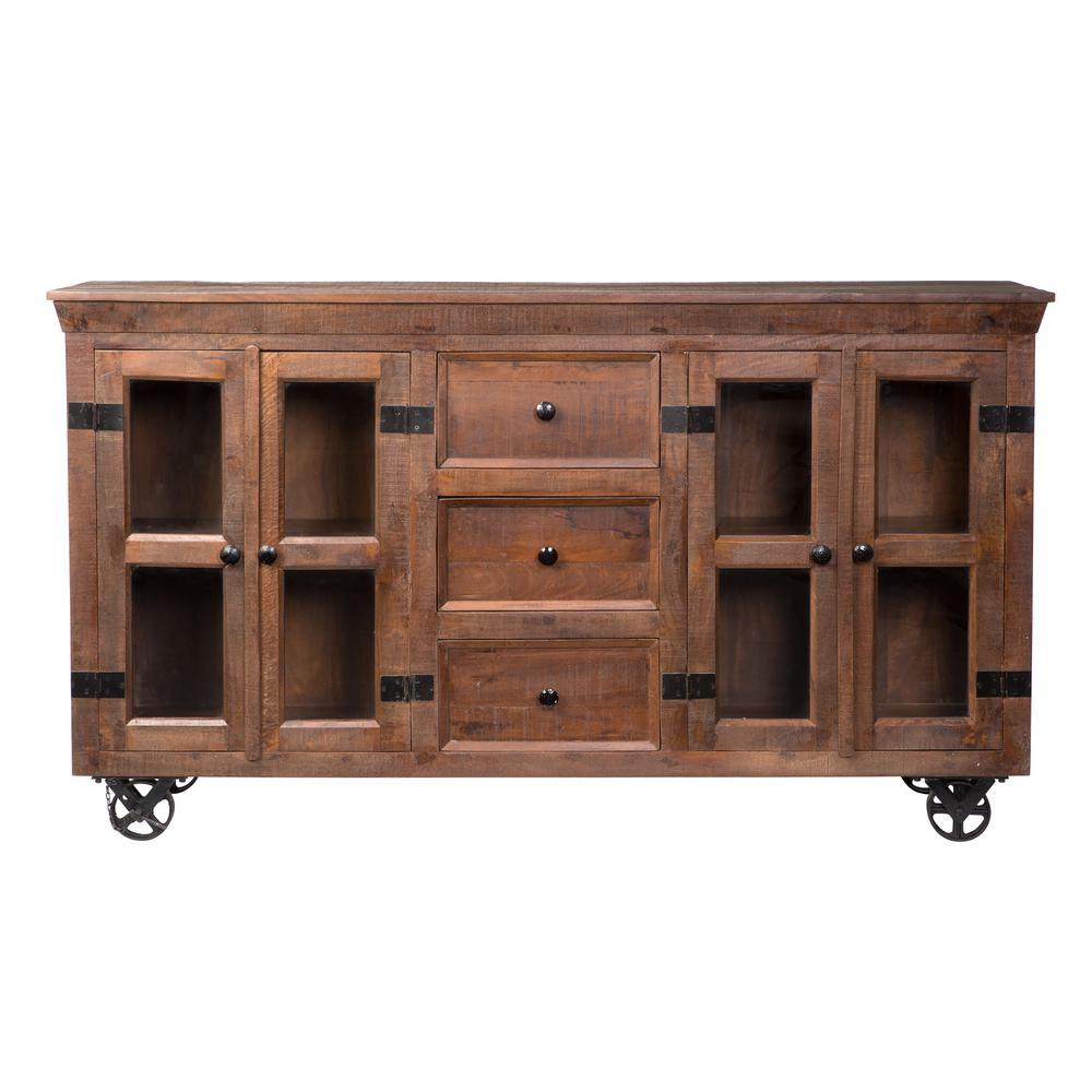 Warm Natural Storage Cabinet