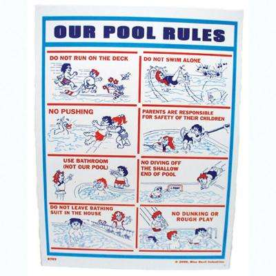 18 in. x 24 in. Blue Devil Our Pool Rules Sign