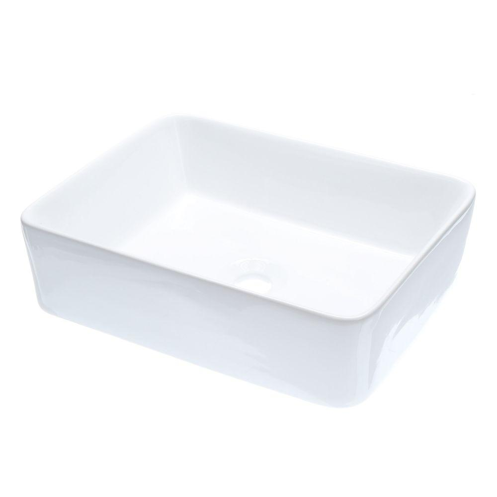 Kingston Brass Vitreous China Vessel Sink in White