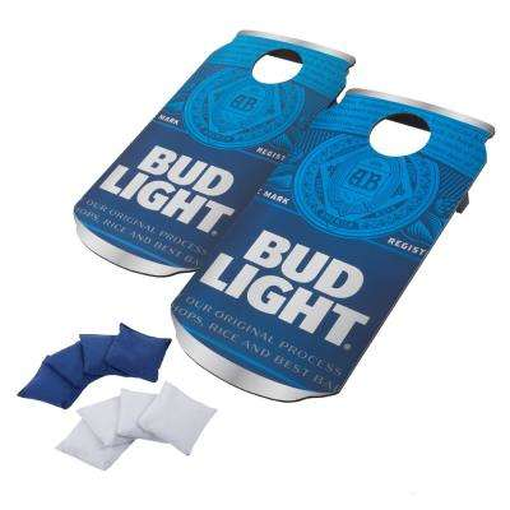 Bud Light Can Cornhole Bean Bag Toss Game