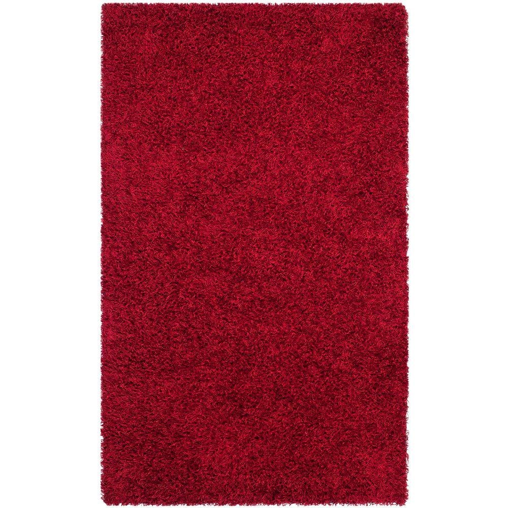 Monterey Shag Red 4 ft. x 6 ft. Area Rug