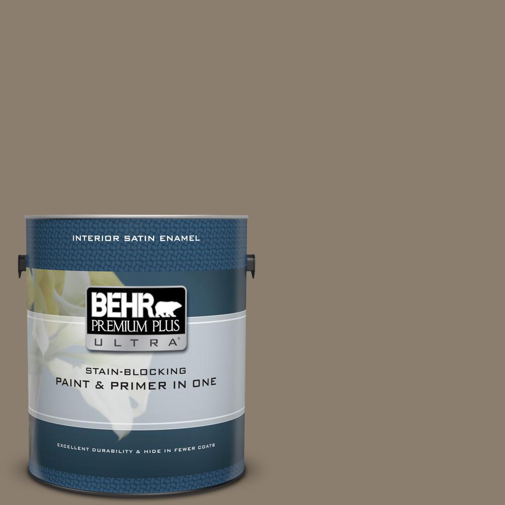 Behr Premium Plus Ultra 1 Gal Bnc 36 Restful Brown Satin Enamel