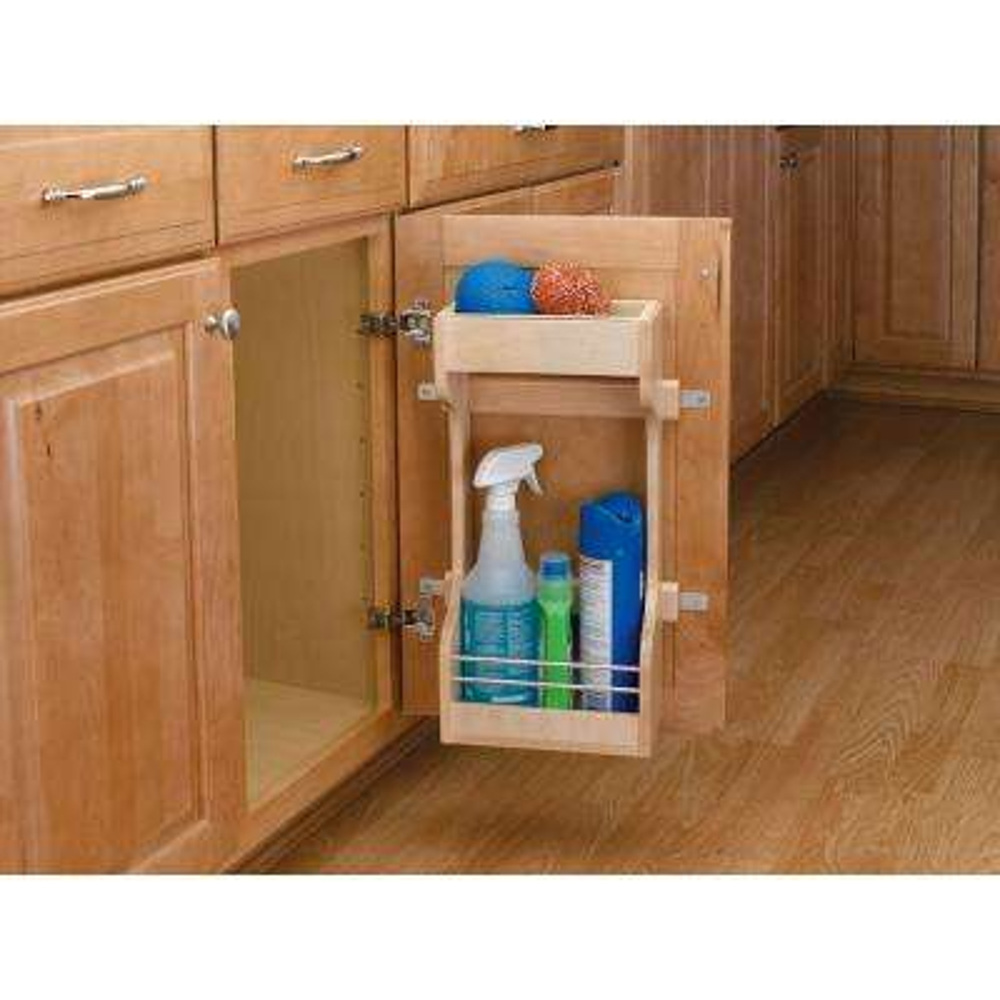 18.63 in. H x 16.5 in. W x 5 in. D Large Cabinet Door Mount Wood 2-Shelf Storage Organizer