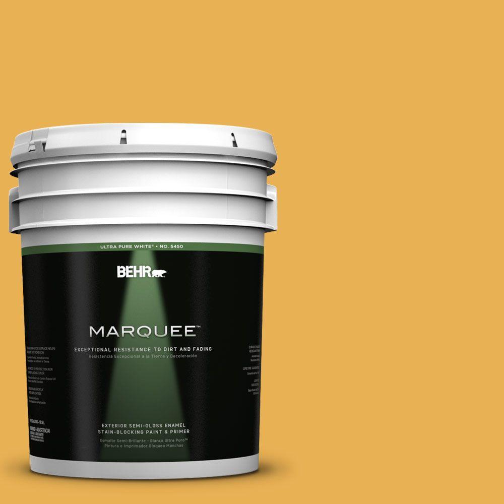 5-gal. #PMD-20 Goldenrod Field Semi-Gloss Enamel Exterior Paint