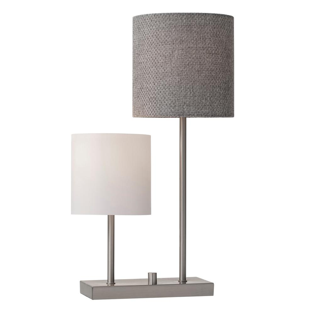 Adesso aubrey 255 in brushed steel table lamp 1530 22 the home depot brushed steel table lamp aloadofball Choice Image