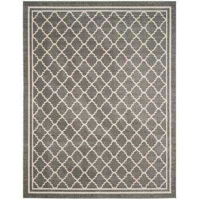Amherst Dark Gray/Beige 10 ft. x 14 ft. Indoor/Outdoor Area Rug