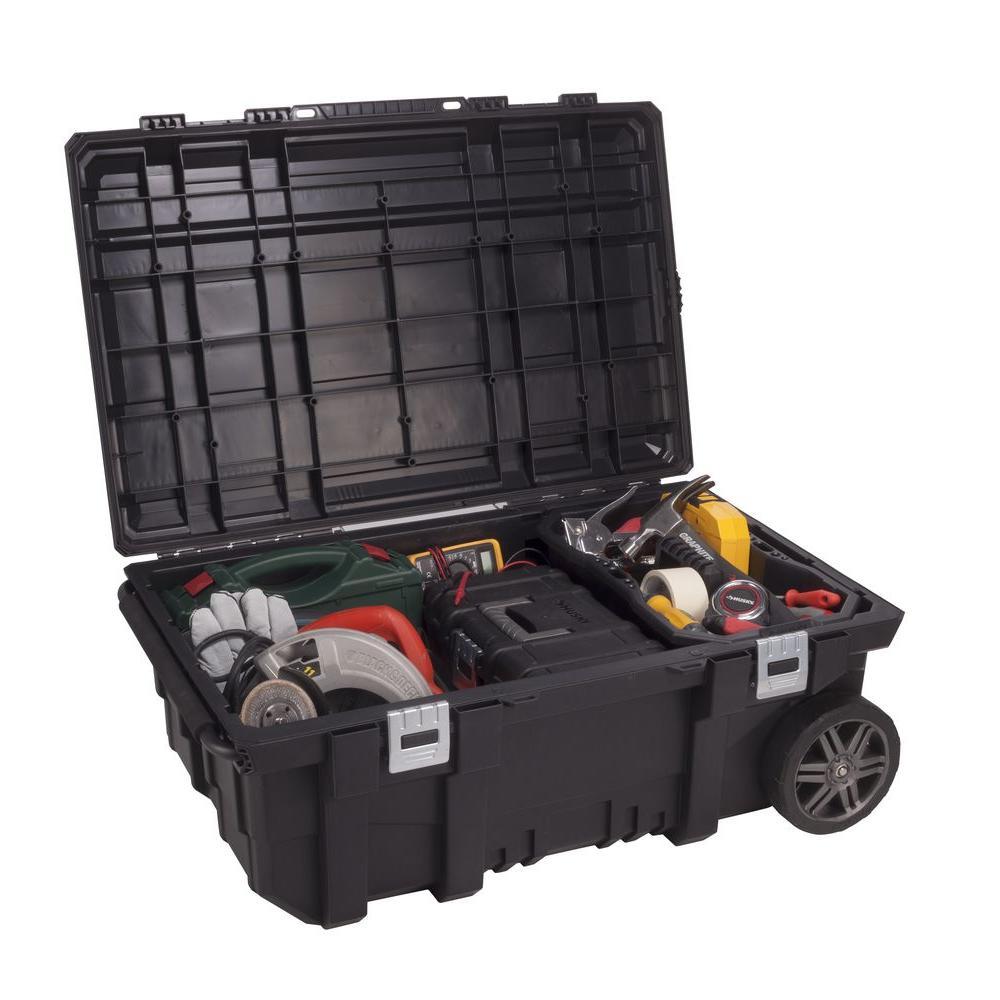 Husky 35 Inch Storage Organizer Portable Mobile Job Tool ...