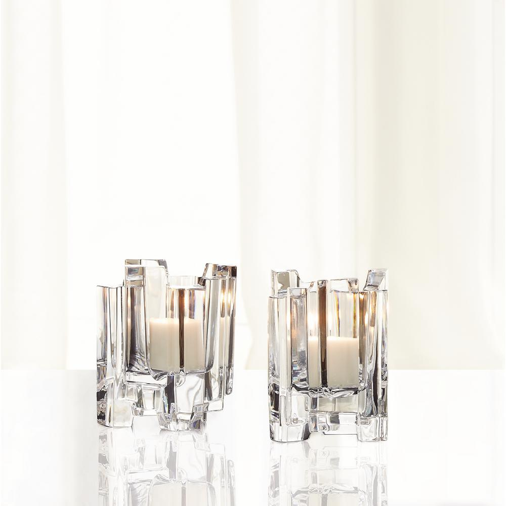 Hikari 4.5 in. Crystal Decorative Votives Set of 2