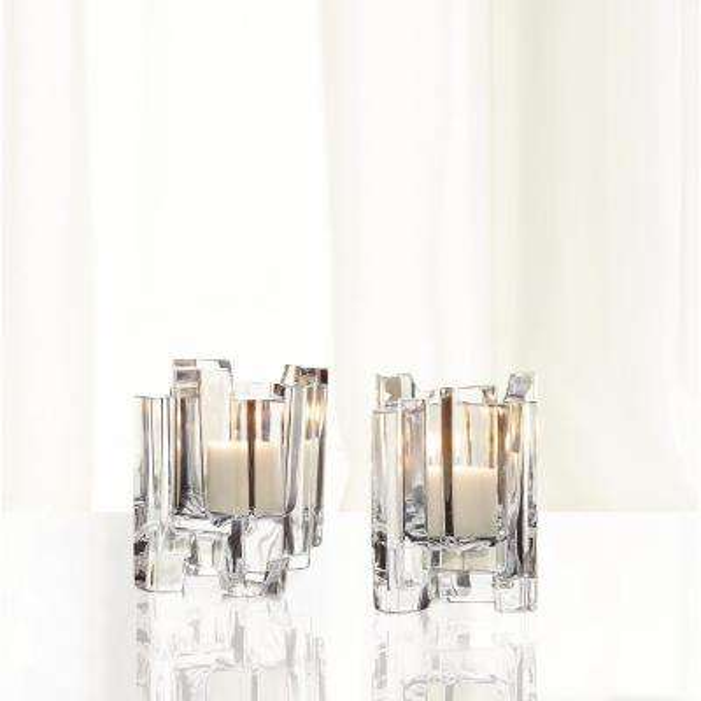 Hikari 4.5 in. Crystal Decorative Votives Set of 2
