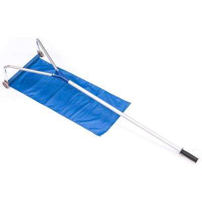 Up to 21 ft. Extendable Lightweight Aluminum Handle Extends Rooftop Rake Snow Remover