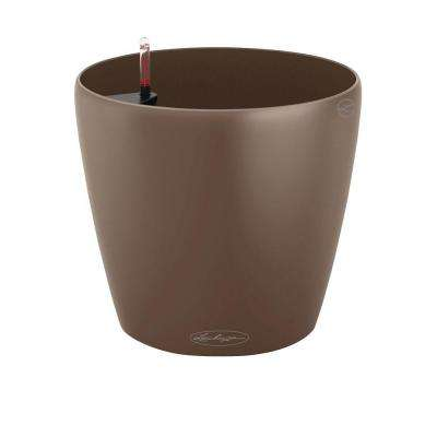 Trend Classico Color 13 in. Dia Nutmeg Self Watering Plastic Planter