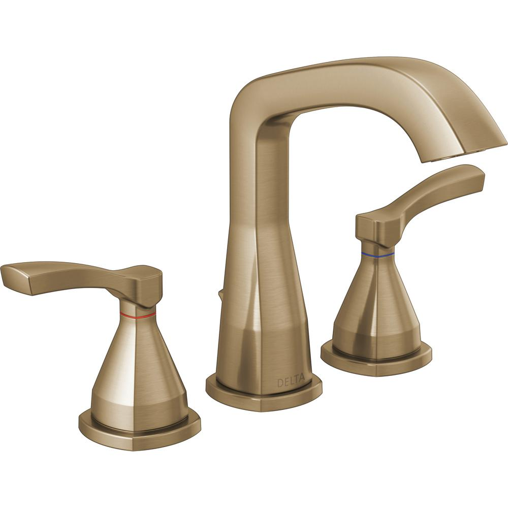 Delta Stryke 8 in. Widespread 2 Handle Bathroom Faucet with Metal