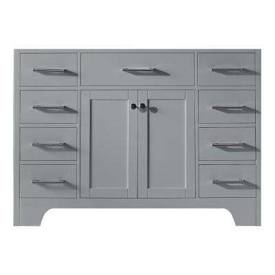 Clariette 47.2 in. W x 21.7 in. D x 33.5 in. H Bath Vanity Cabinet Only in Taupe Grey