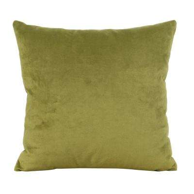 Bella Green Moss 16 in. x 16 in. Decorative Pillow