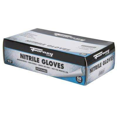 Disposable Nitrile Gloves, 50 Count (Size L)