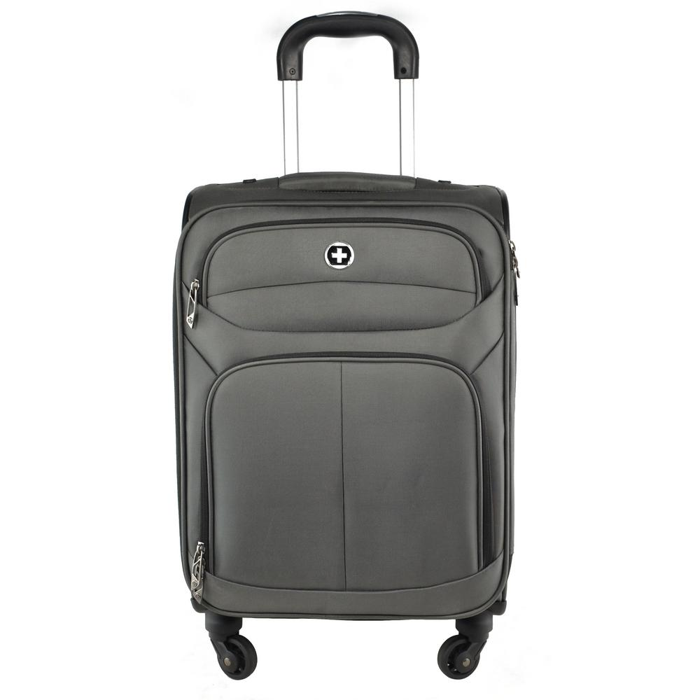 SwissDigital Lucerne 2 Piece Upright Carry On 20 In Suitcase Plus 17