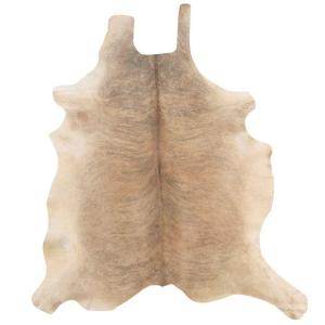 Cowhide Light Brindle 7 ft. x 7 ft. Indoor Area Rug