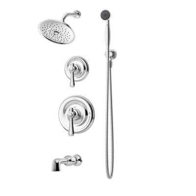 Degas Chrome 2-Handle Tub and Shower with Handshower Shower System (Valve Included)