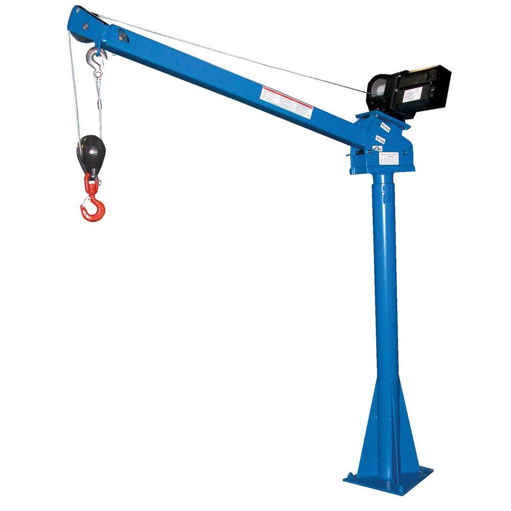Vestil 2,000 lb. 3 ft. to 5 ft. DC Powered Adjustable Boom Lift Jib ...
