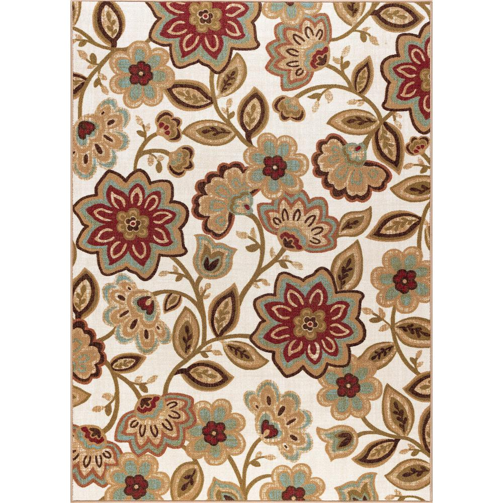 Tayse Rugs Majesty Cream 5 Ft X 7 Ft Transitional Area