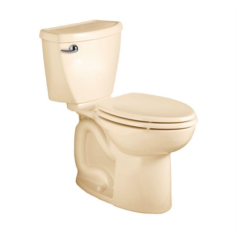 American Standard Cadet 3 Powerwash 10 in. Rough-In 2-Piece 1.6 GPF Single Flush Elongated Toilet in Bone