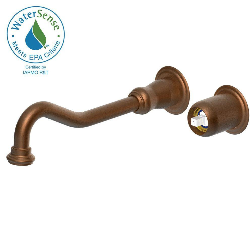 Belle Foret Traditional Wall Mount 1-Handle Vessel Filler in Bronze Red Less Handle-DISCONTINUED