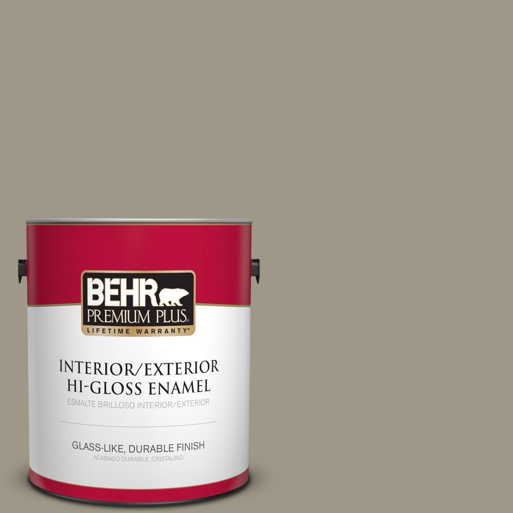 1 gal. #PPU8-20 Dusty Olive Hi-Gloss Enamel Interior/Exterior Paint