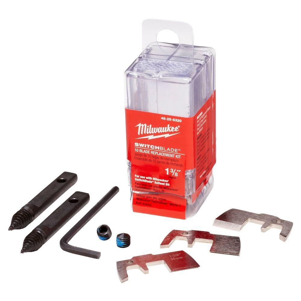 Milwaukee 1-3/8 in. Switchblade 10-Blade Replacement Kit