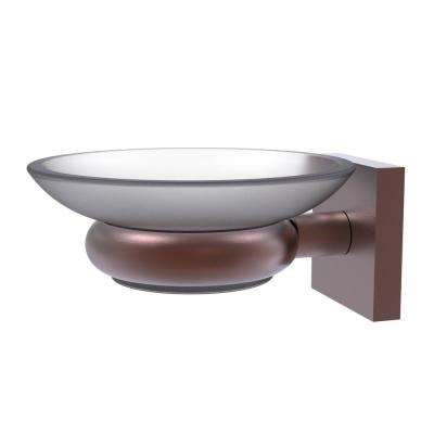 Montero Collection Wall Mounted Soap Dish in Antique Copper