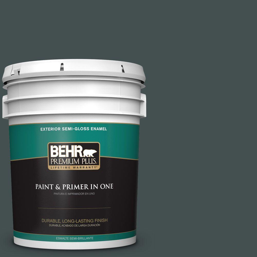 5 gal. #HDC-WR16-05 Evergreen Field Semi-Gloss Enamel Exterior Paint