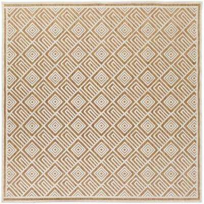 Ichoris Ivory 8 Ft X Indoor Outdoor Square Area Rug