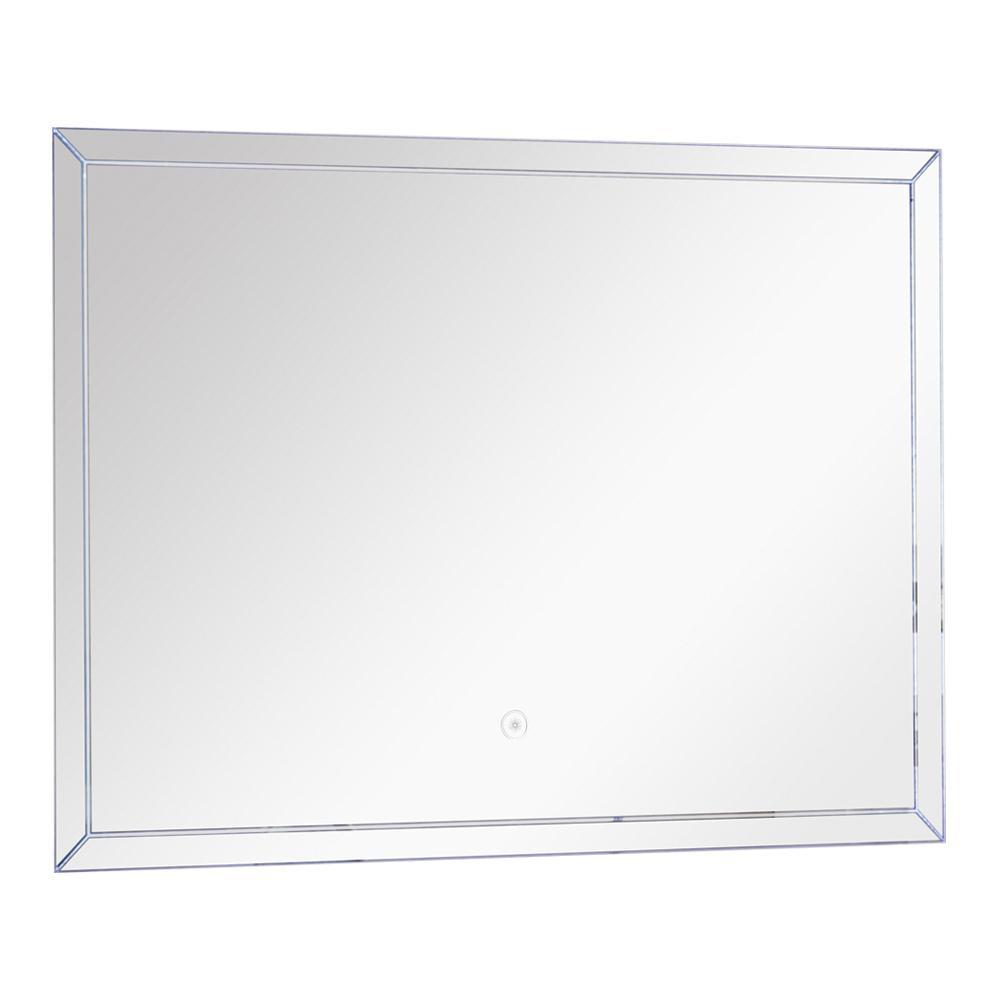 Finn 29.53 in. x 21.65 in. Single Frameless LED Mirror