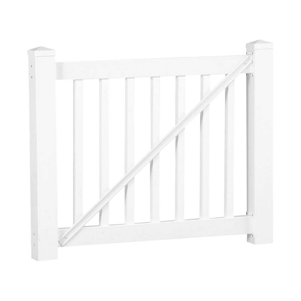 Weatherables Walton 3 Ft H X 5 Ft W White Vinyl Railing